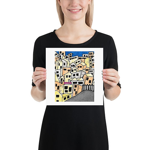 Veranian Slums Photo paper poster