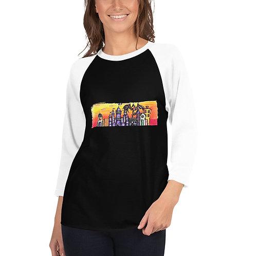 Verania 3/4 sleeve raglan shirt