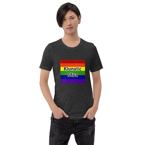 Rainbow Klunatic 5Eva Short-Sleeve Unisex T-Shirt