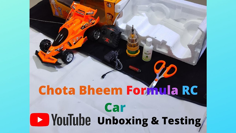 Chota Bheem Formula RC Car Unboxing & Testing | Premium RC Car  Hello Guys, Welcome To Unboxing & Testing In This Video We Are Going To Unbox Chota Bheem Formula Remote Control Car These RC Cars Are Manufactured In Many Variants Like Chota Bheem Gallio