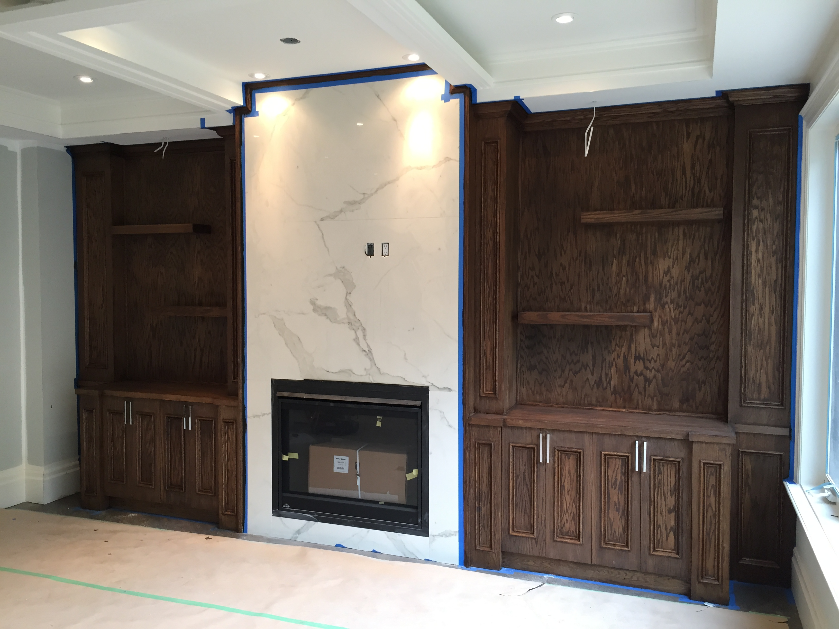 Wall Unit in oak