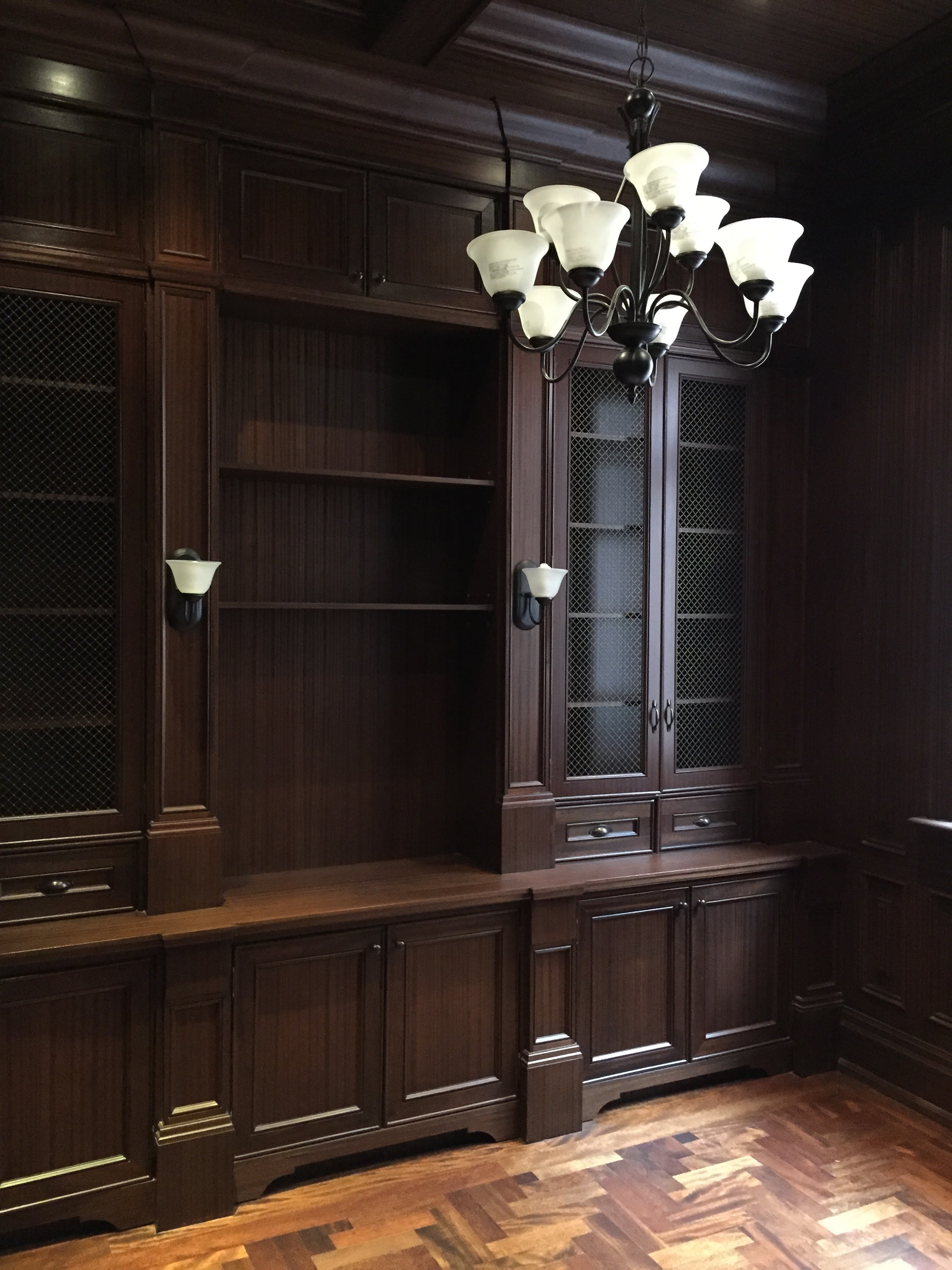 Full Library - mahogany