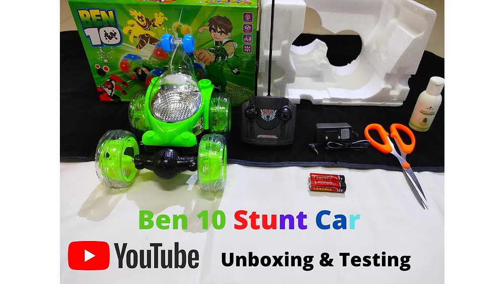 Hello Guys, In This Video We Are Going To Unbox Ben 10 Stunt Remote Control Car These Stunt Cars Are Manufactured In Many Variants Like Ben 10 Chota Bheem Doraemon & Many Others