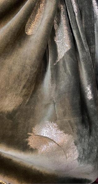 Plaid gris imprimé de plumes argent