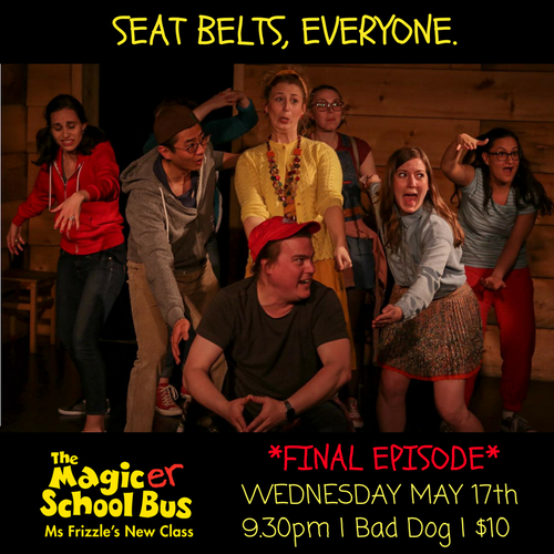 "Tara Federko with Pantsuit Improv in ""the Magic-er School Bus""  at Bad Dog Theatre"