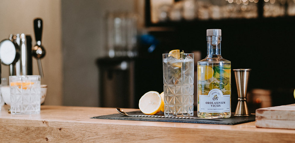 Une bouteille de gin d'Arlon à l'aspérule