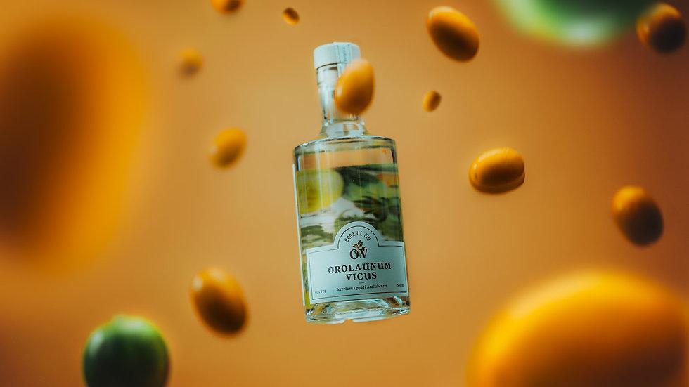 Une bouteille de gin belge et biologique