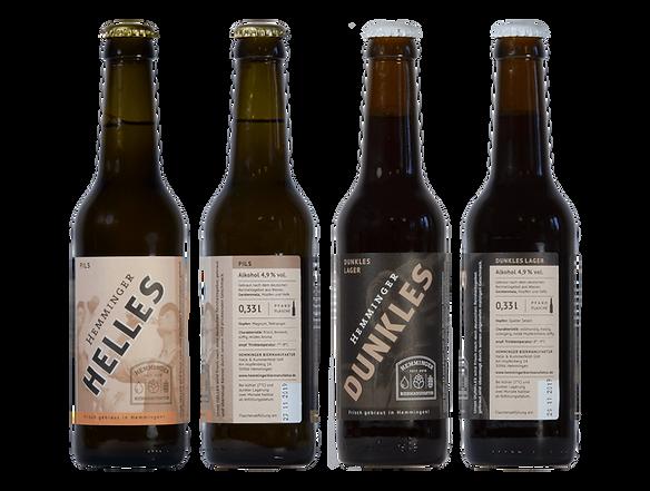 Bierflaschen Craftbeer Hemminger Biermanufaktur Helles Dunkles