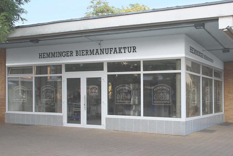 Brauerei Hemminger Biemanufaktur von außen Rathausplatz Hemmingen