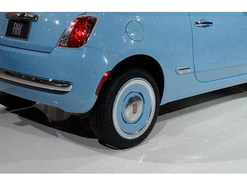 Classic Vintage Fiat 500 Center Caps(ブルー)