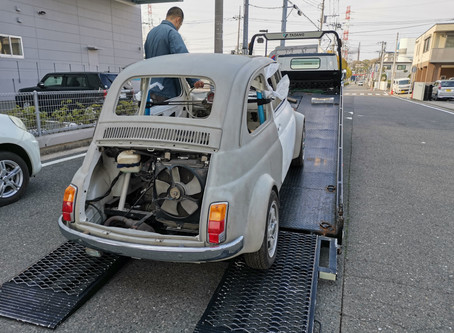 FIAT500 引き取り