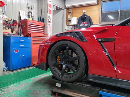 R35 GT-R アップライン様での作業