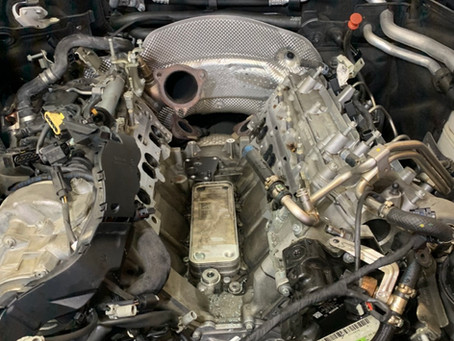 ML350 ディーゼルオイル漏れ修理