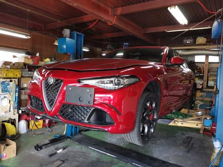 アルファロメオ Giulia、マセラティGiburi納車整備