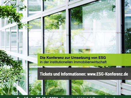 Moderator auf ESG-Konferenz in Frankfurt am Main