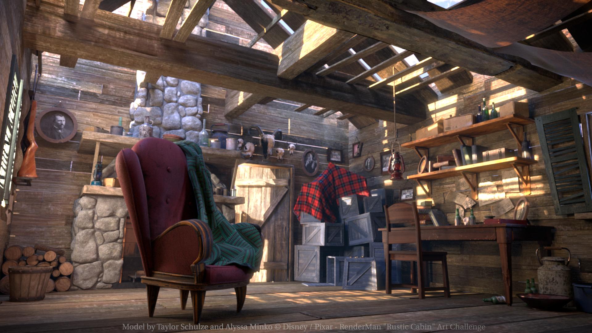 Rustic Cabin Art Challenge