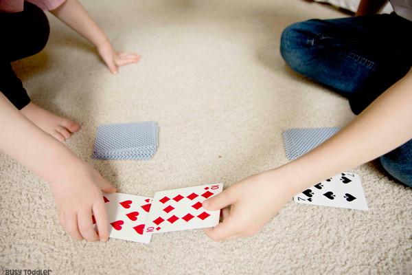 Kids playing war