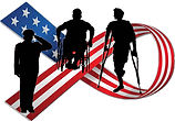 Outdoors Access 4 All! veterans experiencing AAW's outdoor wheelchair