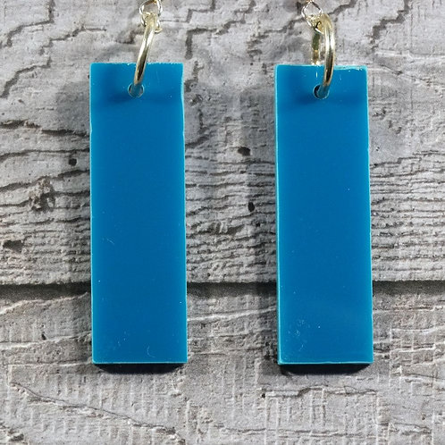 Factory Floor Jewels perspex rectangle earrings