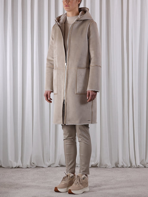 Rino & Pelle Ova reversible faux suede coat
