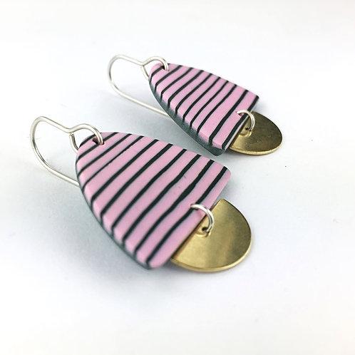 Nadege Honey Breton Candy Stripe Earrings