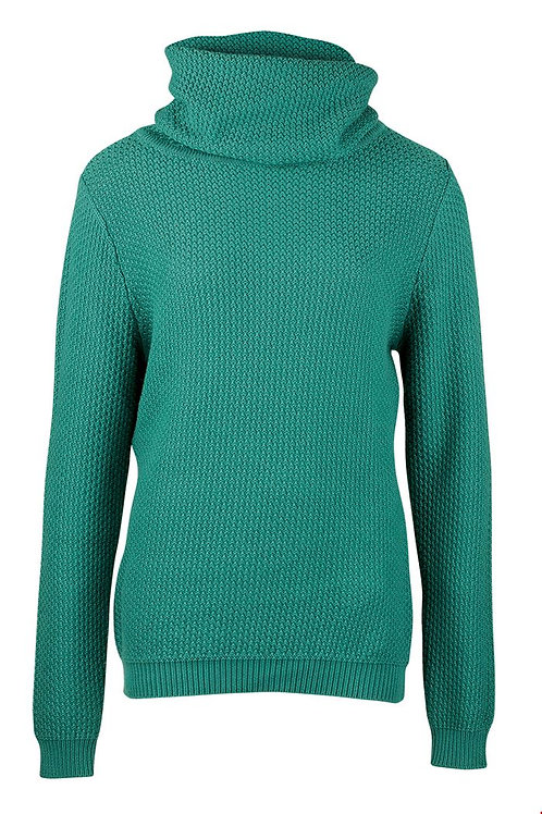 Zilch organic cotton roll neck sweater