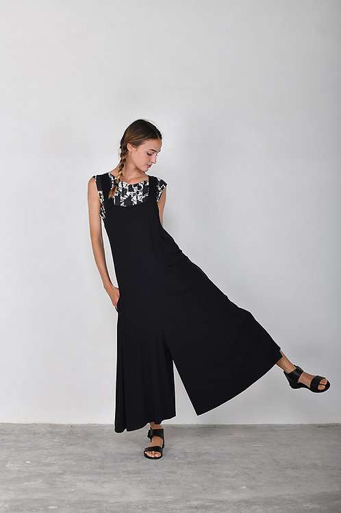 Mama b Prosecco jumpsuit in black