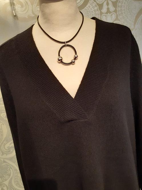 Part Two Ellena oversize V sweater Black