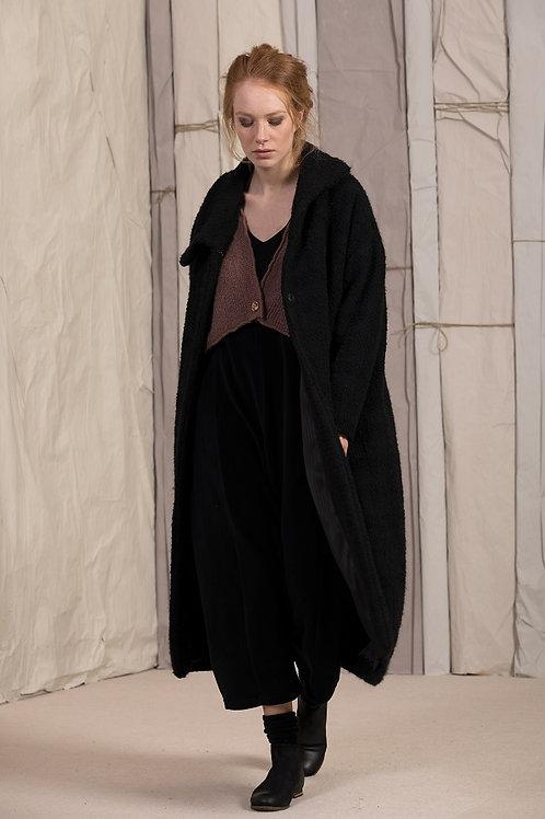 Neirami black wool mix coat