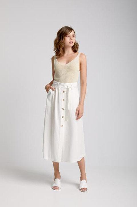 Moutaki button through skirt