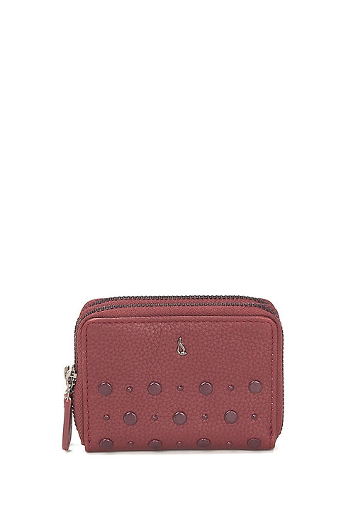 Abbacino Small Leather Purse with rivets