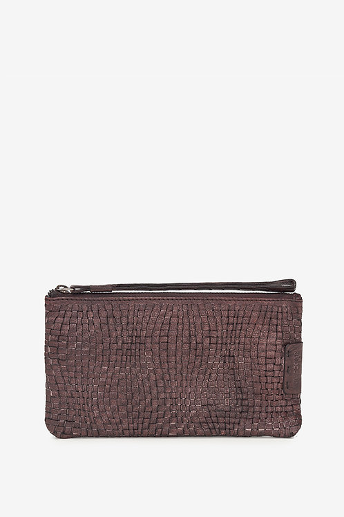 Abbacino Braided Purse in Washed Leather