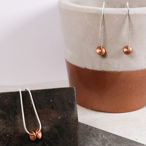 Factory Floor Jewels copper drop pendant