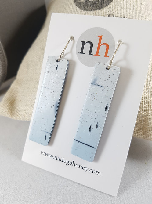 Nadege Honey Glacier Line Earrings