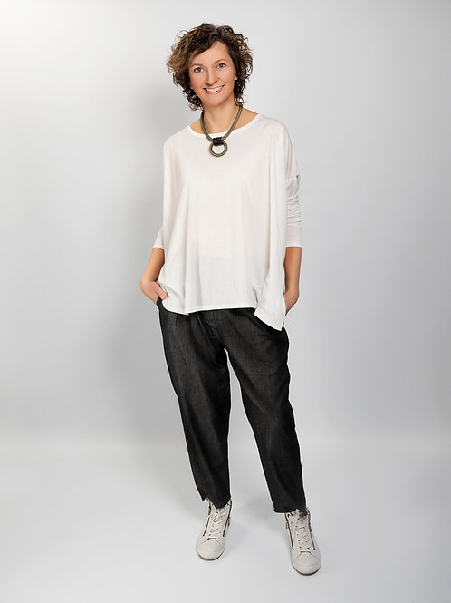 Soft denim-look trousers