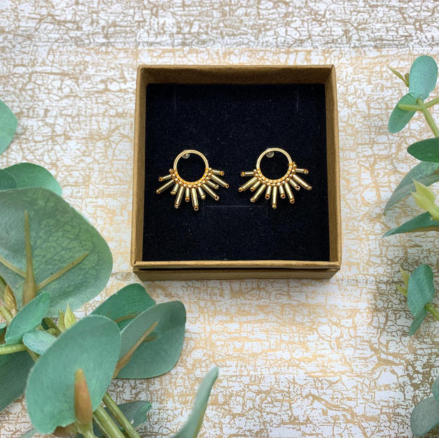 Emma Parker Aurora Earrings Gold