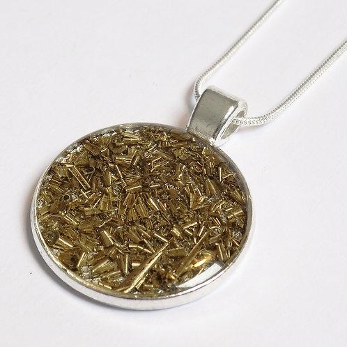 Factory Floor Jewels Swarf Pendant necklace