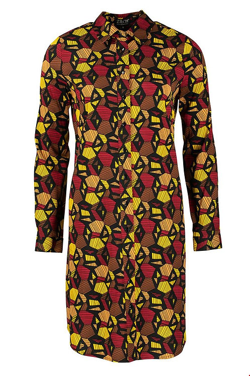 Zilch ethnic print shirt dress