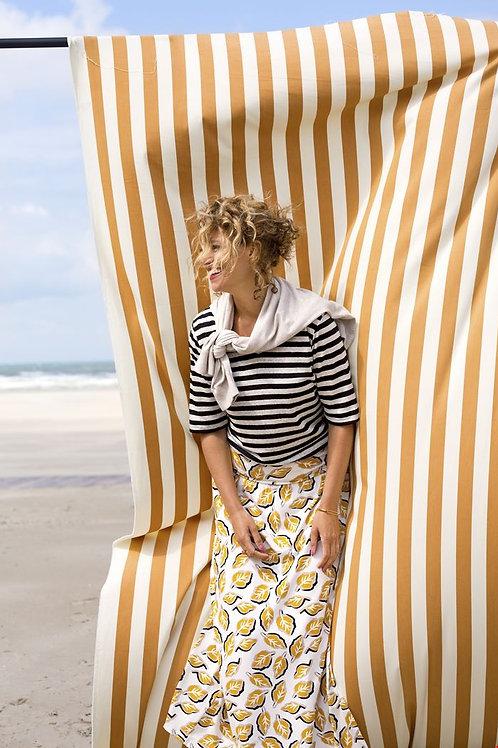 Zilch striped linen knit top