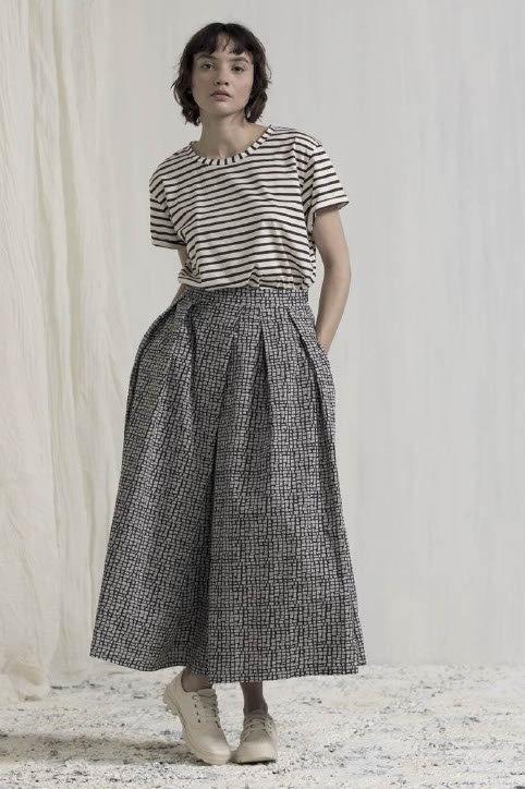 Neirami mosaic print skirt