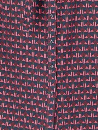 Zilch cotton jersey shirt dress in art deco print