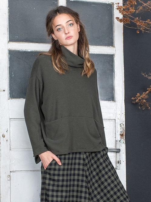 Mama b Legno fleece top with pockets