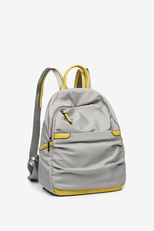 Abbacino Backpack in silver and yellow
