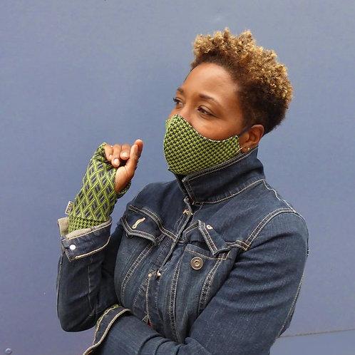 Anna Falcke Jacquard Wristee glove