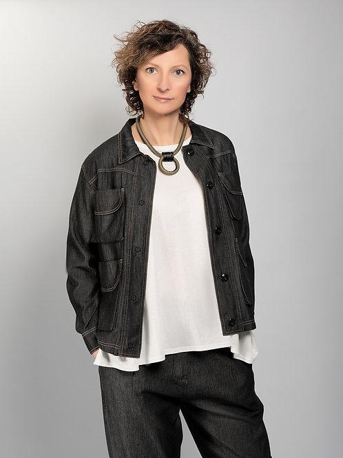 Denim-look casual jacket