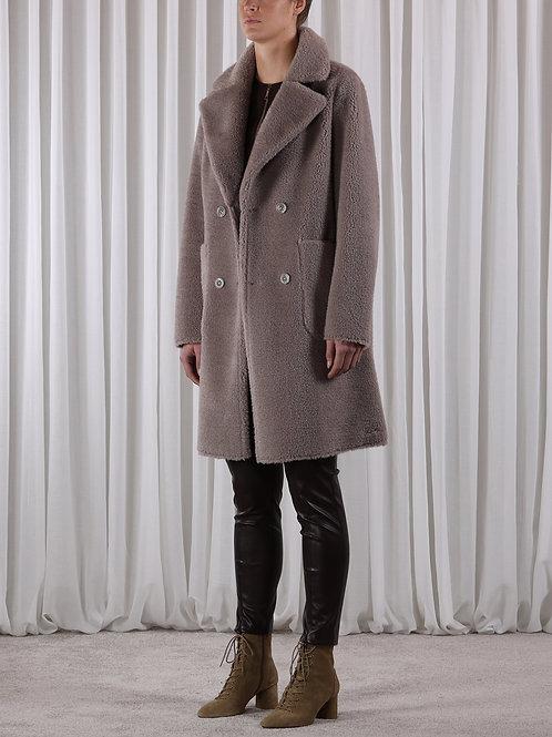 Rino & Pelle Erlina reversible teddy fur/faux sheepskin coat .