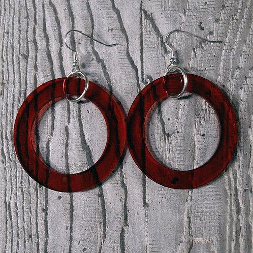 Factory Floor Jewels perspex hoop earrings
