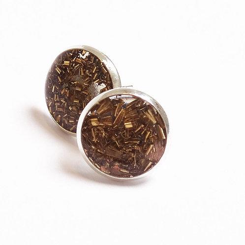 Factory Floor Jewels Swarf Stud earrings