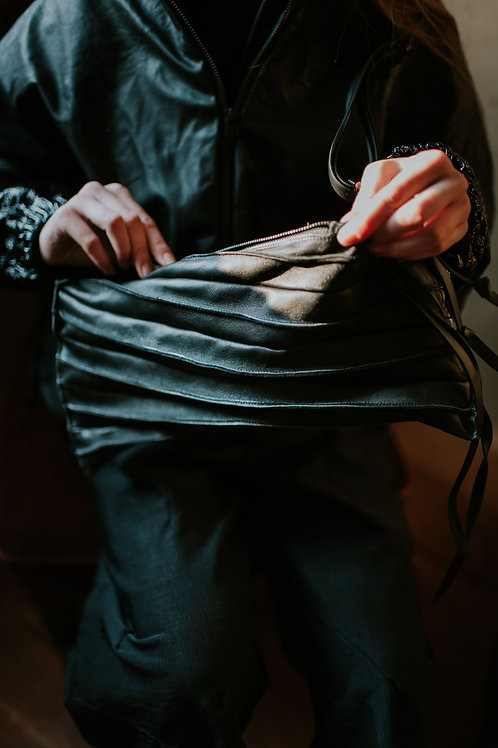 Papucei small pleated leather bag