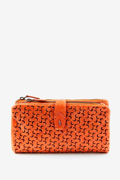Abbacino Large Perforated Leather Purse